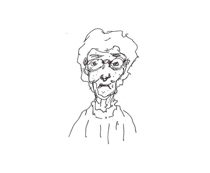 Grand nana #sketch #quick #rapido #boceto #rapido #nana #abuela #grandmother #nanny #draw #drawing #dibujo #vieja #old #scan #late #sad #granny.