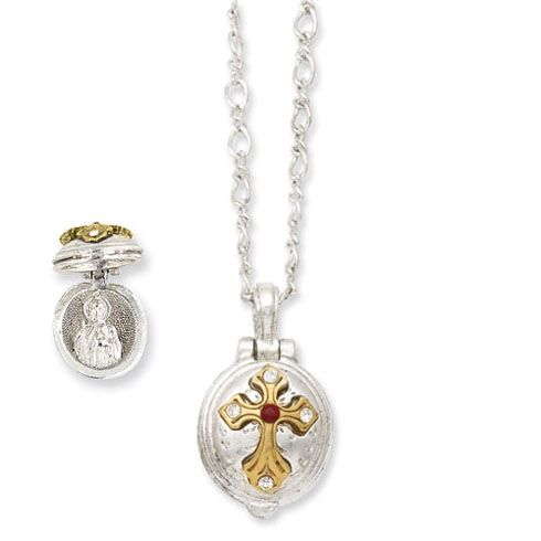 11 best st jude medals images on pinterest pray designer jewelry silver gold tone saint jude lift up cross necklace mozeypictures Gallery