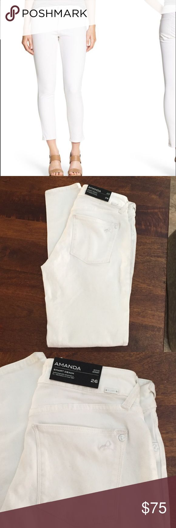 """DL 1961 Amanda Petite Skinny jeans Inseam 27.5"""". Still with tags. Butt is a little dirty (see pic) on pocket but will come off with a wash. Size 26. Fit true to size. DL1961 Jeans Skinny"""