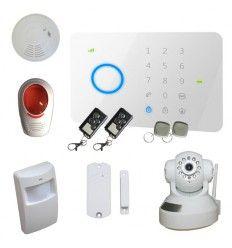 Alarme Maison sans fil GSM 1/2 pièces 100% sécurité