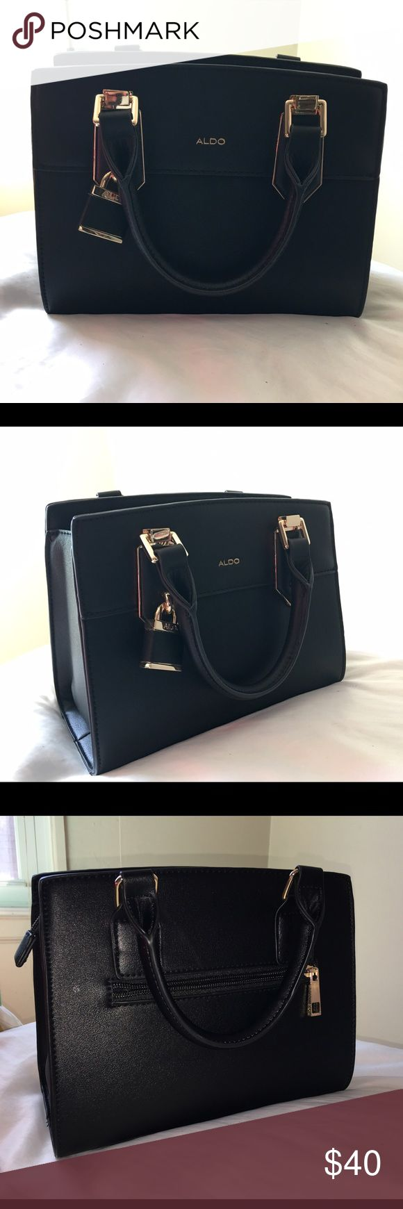 Black Aldo Purse New! Used once. In GREAT condition! From Aldo's new spring collection 2017. Posed next to wallet to get a perspective on size. Black Aldo Bags Mini Bags