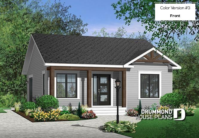 Discover The Plan 3113 Sisken Which Will Please You For Its 2 Bedrooms And For Its Modern Rustic Styles Cottage Style House Plans Bungalow House Plans Cottage Style Homes