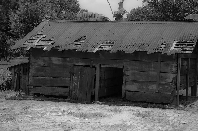 This is an authentic slave cabin in Louisiana. It's on Lauras Plantation. A minimum of 2 families would live in this tiny cabin at a time.