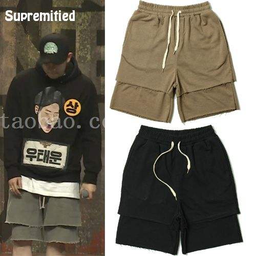 Supremitied  GD Casual Shorts Angel Fear of God de Kanye West Men Women Justin Bieber High Street City Boy Korea Casual Shorts