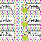 These labels are made for the covers of both Fluency and Writing folders.  Each label has  a polka dot border.  These are formed to fit AVERY 5163 ...