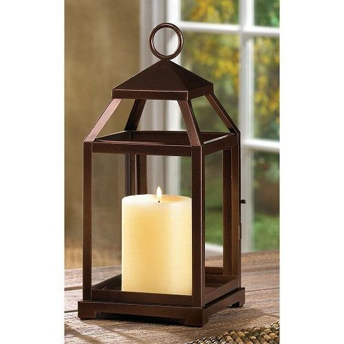 Bronze Style Modern Contemporary Candle Lantern