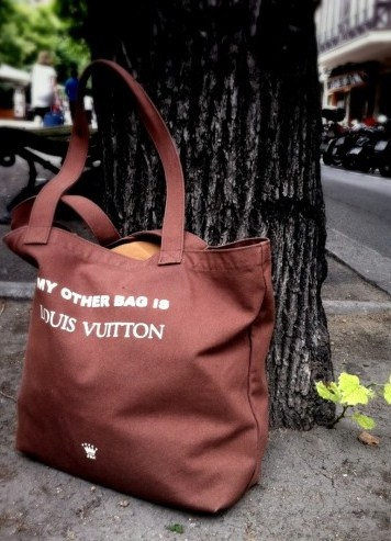 my other bag is louis vuitton. tote.