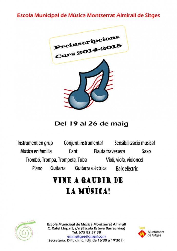 L'Eco de Sitges - S'obre el termini de preinscripcions a l'Escola Municipal de Música Montserrat Almirall de Sitges