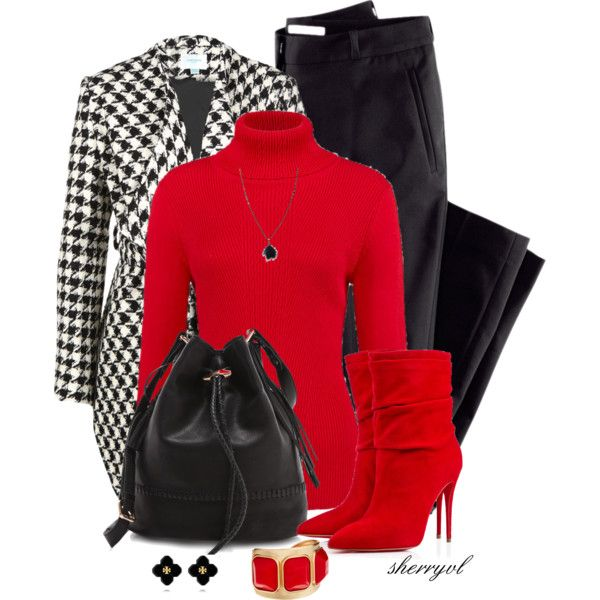 A fashion look from November 2014 featuring Jovonna jackets, H&M pants and Christian Louboutin ankle booties. Browse and shop related looks.