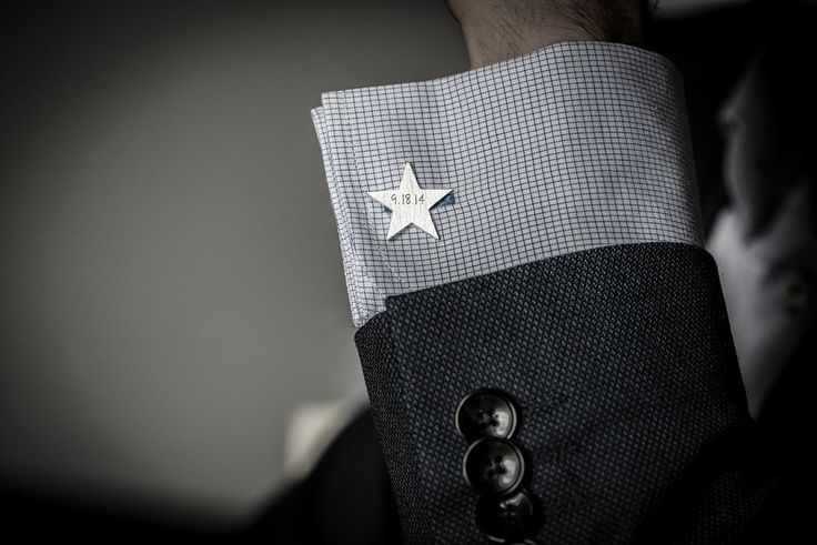Star cufflinks // sterling silver // personalized