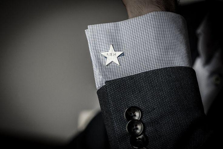 Star cufflinks // sterling silver // personalized