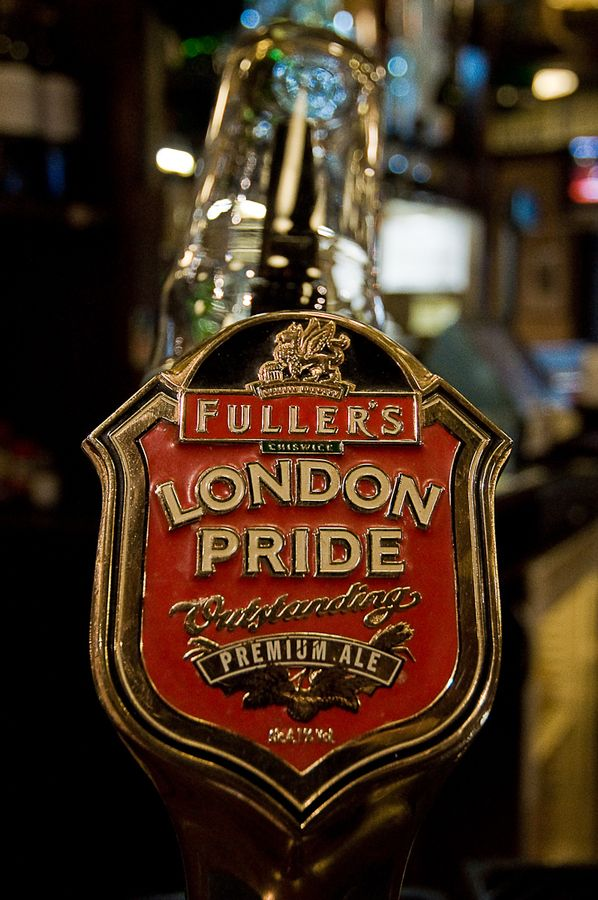 London Pride. Tasty, though not usually what I go for.  Tastes even better when following an amber or red