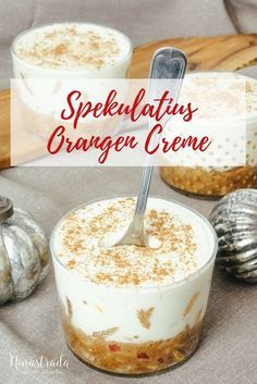 Nachspeise im Glas für Weihnachten: Orangen-Spekulatius ...