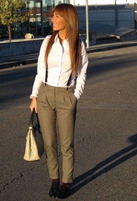 detalles de pantalones con tirantes para mujer de colores