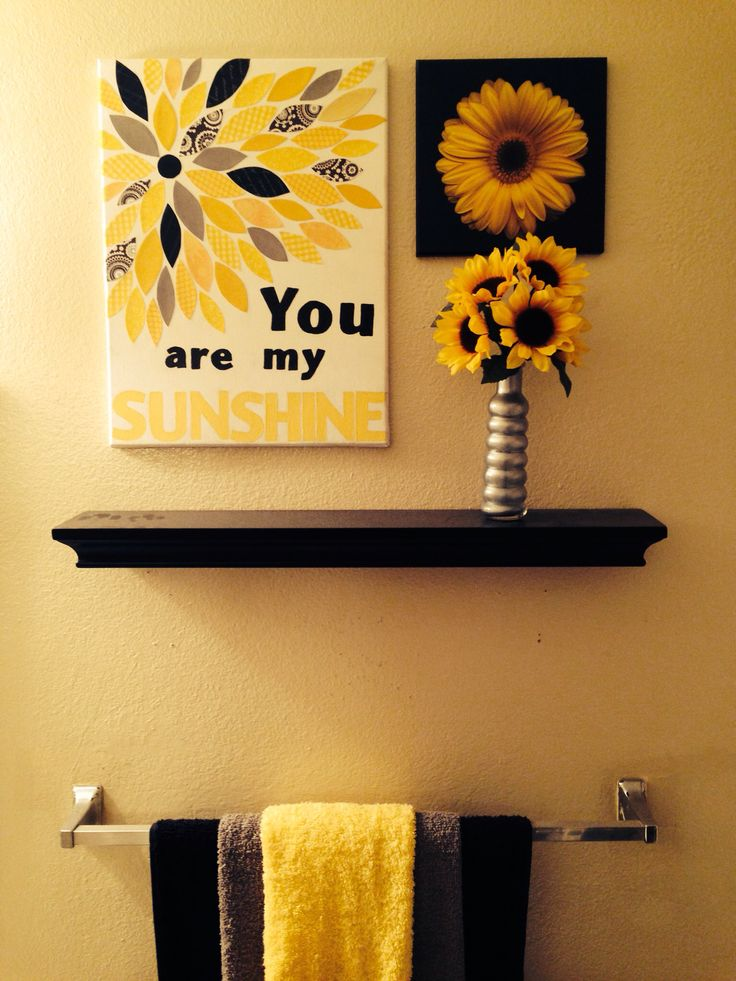 Wonderful You Are My Sunshine. Sunflower BathroomSunflower ...