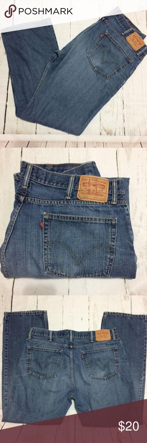 "*Final Price* Men's Levis 505 Jeans 40x32 Men's Levis 505 Jeans 40x32. Straight Fit Jeans Manufactured Distressed Waist  40"" Inseam 32"" Levi's Jeans Straight"