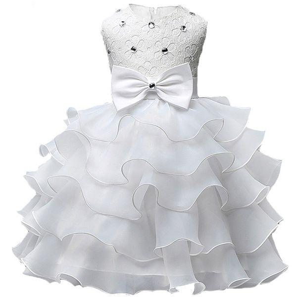 Wish | 2017 Baby Christening Girl Dress Kids Ruffles Lace Dresses for Girls Princess Tutu Dress for Wedding Party Events Wear Girls