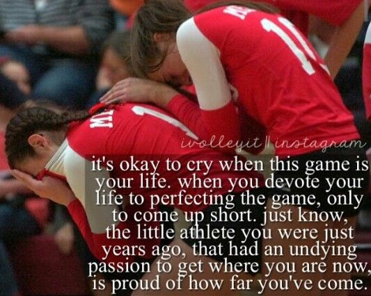 Losing hurts. But sometimes losing can help us dig deeper and become better players than we ever thought possible. #volleyball #nevergiveup #keepplaying