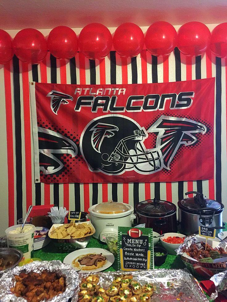 Atlanta Falcons football Super Bowl party decoration