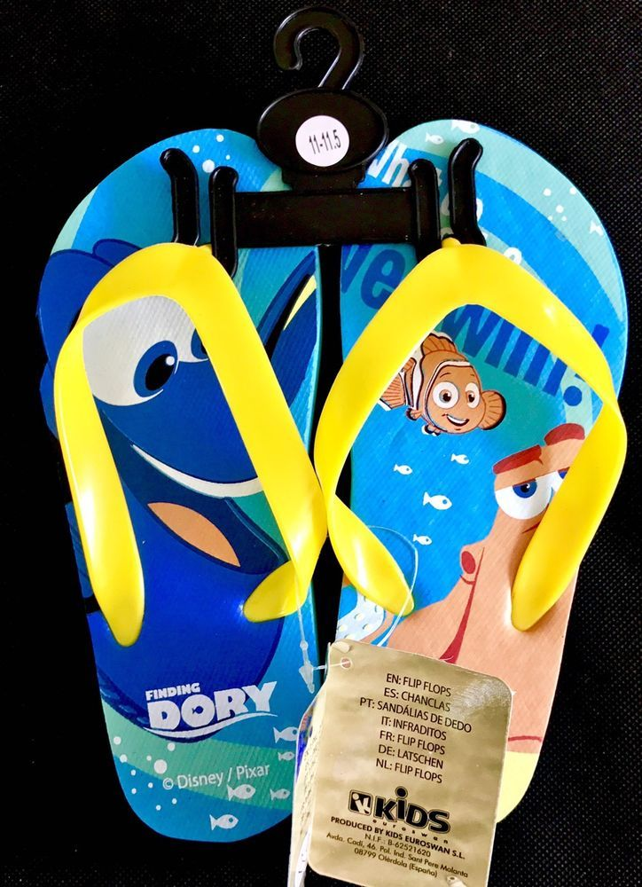 Disney's Pixar Finding Dory Flip Flops kids beach summer sandals nemo holiday
