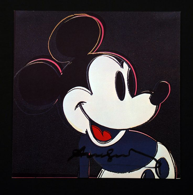 Andy Warhol  Mickey Mouse Signed Bookplate