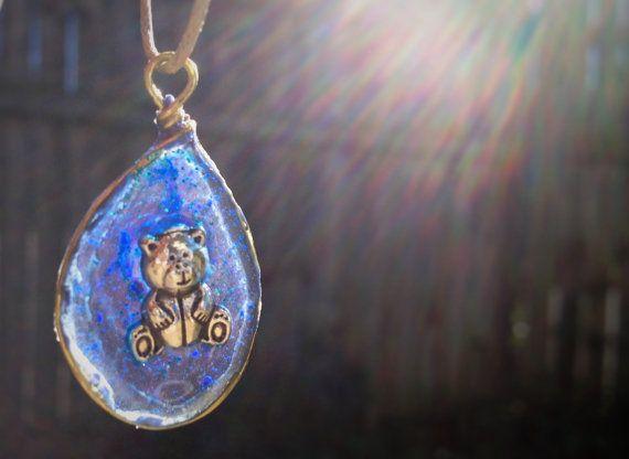 Teddy Bear pendant by AshkaraDesign on Etsy