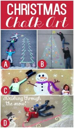Christmas Chalk Art...also banner and Christmas tree ideas are cute