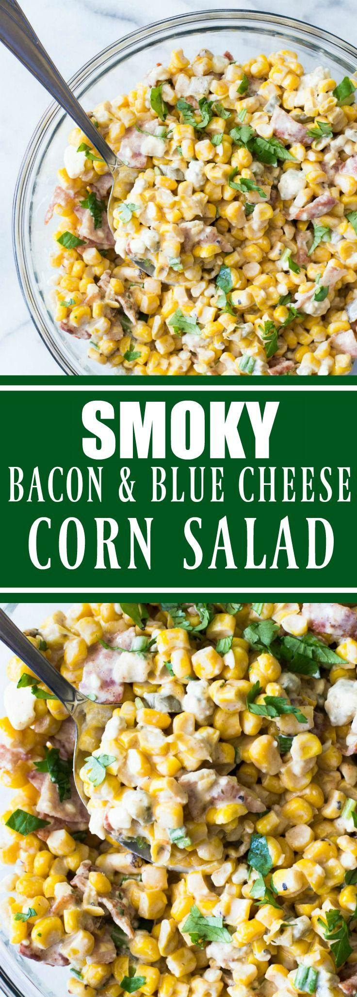 Smoky Bacon & Blue Cheese Corn Salad