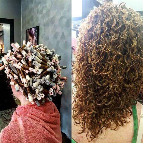 gorgeous spiral piggyback perm on various rod sizes | hair ...