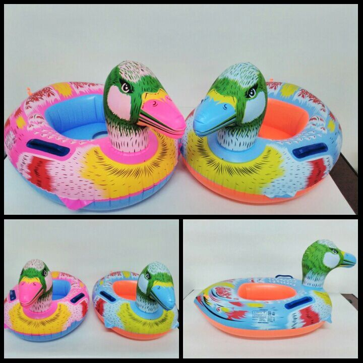 funny full color bird inflatable floats swim ring for your kids pvc material