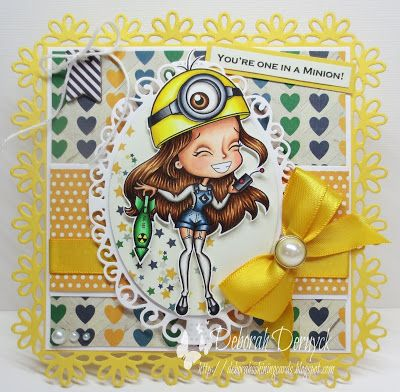 """Guest DT Copic marker Spain featuring """"Minion Girl"""" by Alicia Bell. Designed by Deborah Deruyck"""