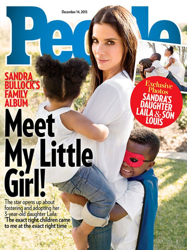 Sandra Bullock adopts a baby 3-year-old girl. What a happy family!