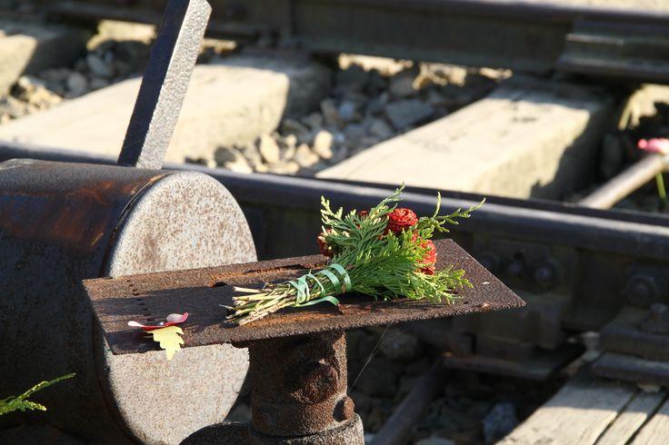 Sign of remembrance - Birkenau.