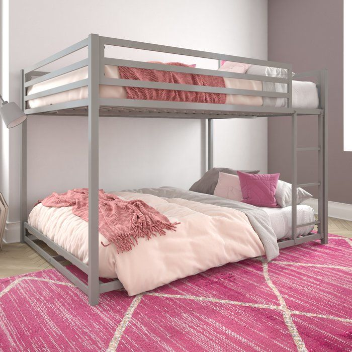 Simoneau Bunk Bed In 2020 Bunk Bed Rooms Metal Bunk Beds Full
