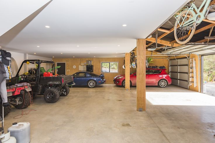 Large storage area downstairs including a workshop