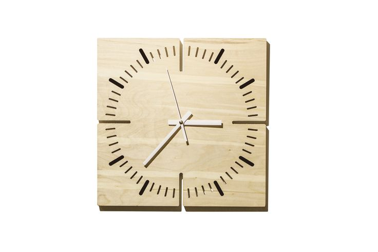 "TOKLOK is an original wall clock complete with movement and hour and minutes hands  TOKLOK is realized BY G.Nus FurnITure on JBB atelier's project : ""The idea was to obtain a clock from a panel of birch plywood trying to keep the aesthetic  simple and clean, but functional."" Material:  birch plywood  Dimensions(l. x d. x w.): 30x30x2 cm  Weight: 1 kg For information and free estimates call +39 051945785 or send an email to g.nusfurniture@gmail.com"