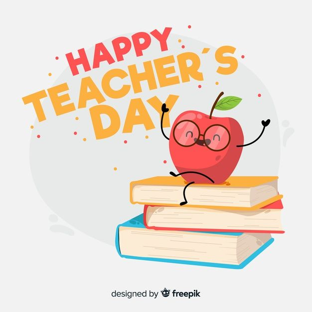 Flat Design Teachers Day Background Happy Teachers Day Card Teachers Day Greetings Teachers Day Greeting Card