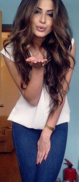 loose waves, cute outfit