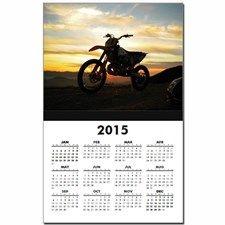 Bike at Sunset Calendar Print