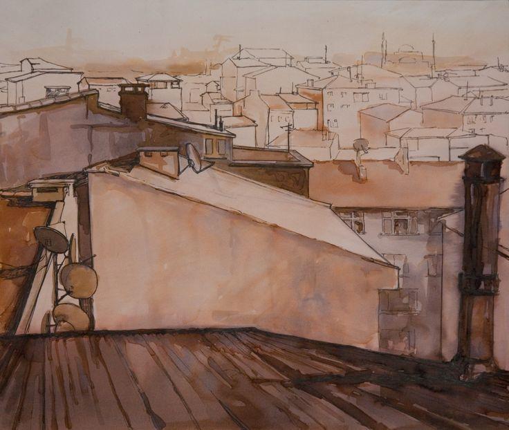 Setenay Alpsoy  2011 29 x 33 cm. Kağıt üzerine karışık teknik / Mixed media on paper.