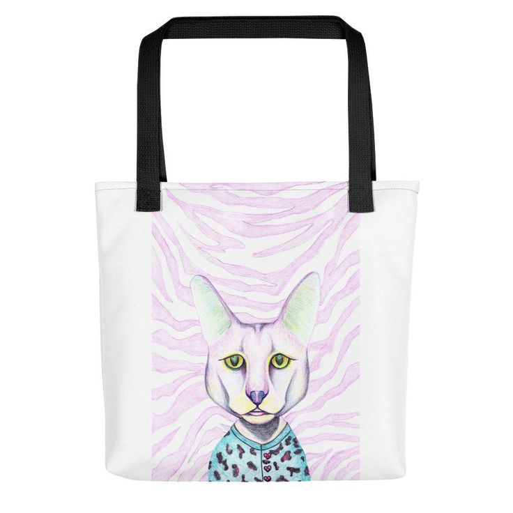 Excited to share the latest addition to my #etsy shop: Cat lover gift bag, Hipster gift print, Shopper bag, Large tote printed, Pink cat face, Crazy cat lady,Cat Owner Gift,Funny cat shopping bag #bagsandpurses #pink #backtoschool #valentinesday #blue #catlovergiftbag #hipstergiftprint #largetoteprinted #shopperbag
