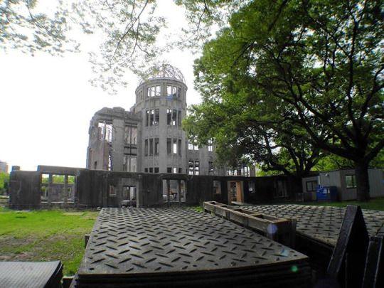 un día como hoy en 1945 se lanzó la primera bomba nuclear …. no olvidar. . en la foto : el lugar de 'la postal' clásica que podemos ver como reliquia y recordarnos lo sucedido