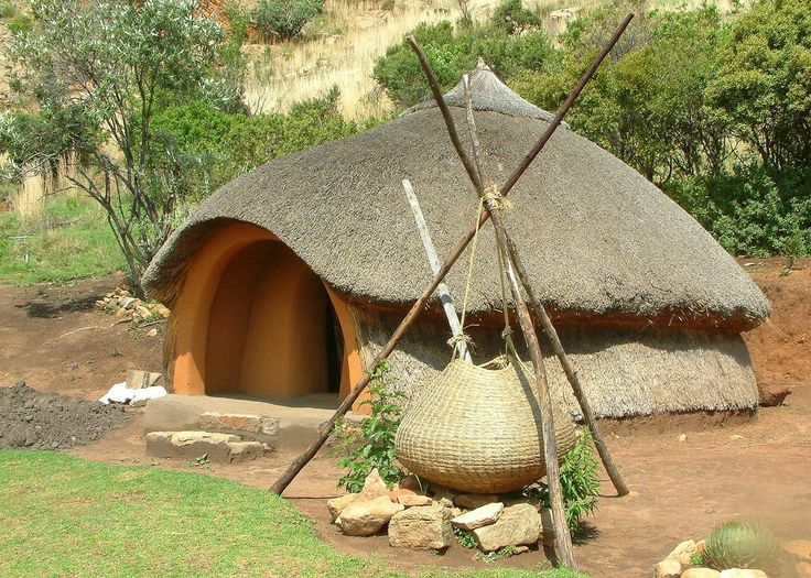 The Basotho hut, Qwa-Qwa National Park, Free State, South Africa.