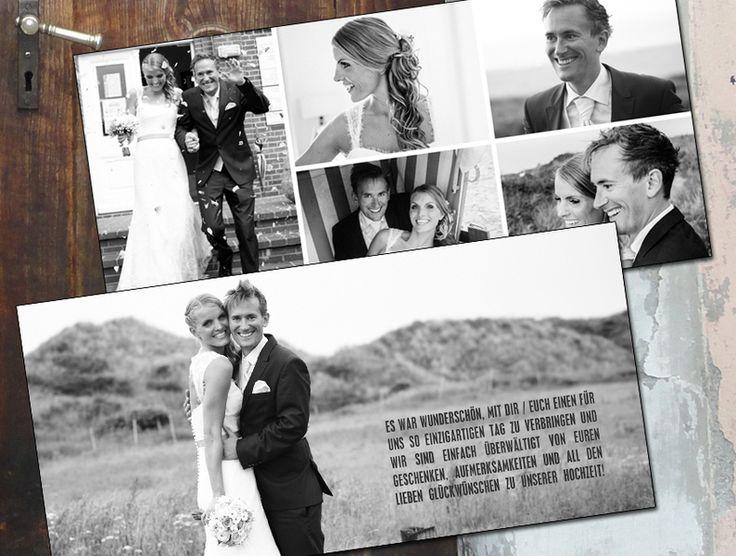 Danksagungskarten - Dankeskarte Hochzeit  - ein Designerstück von zelka bei DaWanda