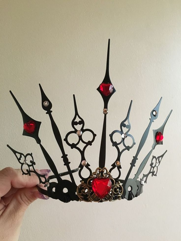 Evil Tiara Renaissance Queen Of Hearts Crown Cosplay Steampunk Gothic Fairy