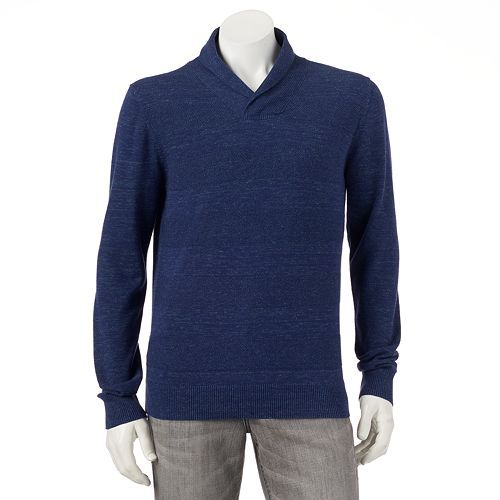 Marc anthony slim fit texture striped shawl collar sweater for Tony collar dress shirt