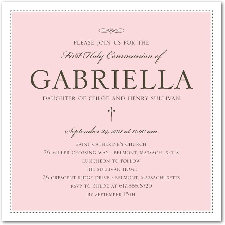 Lovely Style: Girl - Communion Invitations in Blush | Hello Little One