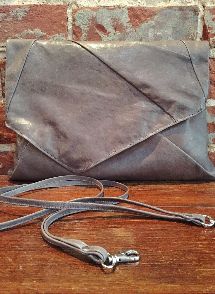 Geometric Clutch Bag - grey leather by TheButcherByrd on Etsy https://www.etsy.com/listing/266064680/geometric-clutch-bag-grey-leather