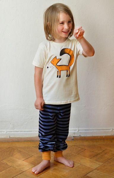4. T-Shirts - Franzi Fuchs T-shirt bio 86-104 natur Cmig - ein Designerstück von Cmig bei DaWanda