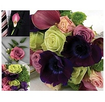 Wedding flower package from Sam's club $209.34 (includes shipping) Collection Includes: •1 Bridal Bouquet  •2 Bridesmaid Bouquets  •4 Boutonnieres  •2 Corsages  •1 Box of Petals  •Clippers